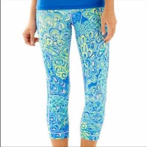 Lilly Pulitzer Lilly's Lagoon Luxletic Leggings S